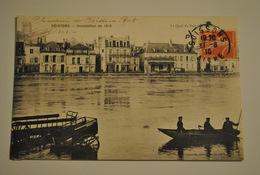 02 Aisne Soissons Inondation De 1910 Le Quai Du Port - Soissons