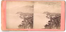 Stereo-Foto Unbekannter Fotograf, Ansicht Bellagio, Küstenpanorama - Stereoscopio