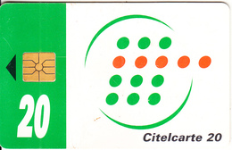 IVORY COAST - Telecom Logo, Green Band 20 Units, Chip GEM1A, Used - Ivoorkust