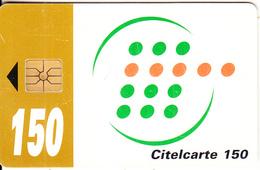 IVORY COAST - Telecom Logo, Brown Band 150 Units, Chip GEM1A, Used - Ivoorkust