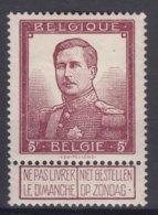 Belgium 1912 King Albert 5 Francs Mi#99 Mint Never Hinged - 1912 Pellens