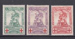 Belgium 1914 Red Cross Mi#104-106 Mint Hinged - 1918 Rotes Kreuz