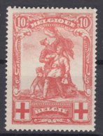 Belgium 1914 Red Cross Mi#105 Mint Hinged - 1918 Rotes Kreuz