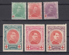 Belgium Red Cross 1914 Mi#107-109 And 1915 Mi#110-112 Mint Hinged - 1918 Rotes Kreuz