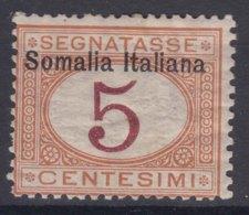 Italy Colonies Somalia 1909 Segnatasse Sassone#12 Mint Hinged - Somalia