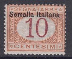 Italy Colonies Somalia 1909 Segnatasse Sassone#13 Mint Hinged - Somalia