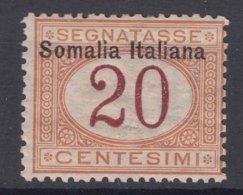 Italy Colonies Somalia 1909 Segnatasse Sassone#14 Mint Hinged - Somalia