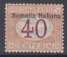 Italy Colonies Somalia 1909 Segnatasse Sassone#16 Mint Hinged - Somalia