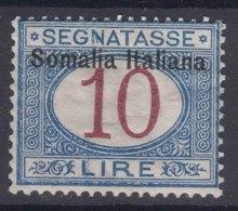 Italy Colonies Somalia 1909 Segnatasse Sassone#22 Mint Hinged - Somalia