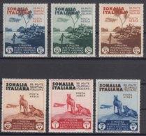 Italy Colonies Somalia 1934 Colonial Arts Exposition Sassone#A1-A6 Mint Hinged - Somalia