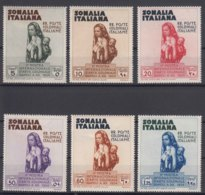 Italy Colonies Somalia 1934 Colonial Arts Exposition Sassone#193-198 Mint Hinged - Somalia