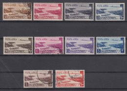 Italy Colonies Somalia A.F.I.S. Posta Aerea Sassone#1-11 One Stamp Missing (Sass#8) - Somalia