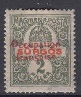 France Occupation Hungary Arad 1919 Yvert44 Mint Hinged - Neufs