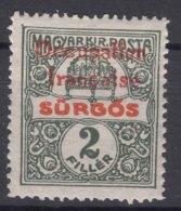 France Occupation Hungary Arad 1919 Yvert44 Mint Hinged - Hungary (1919)