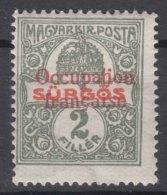 France Occupation Hungary Arad 1919 Yvert44 Mint Hinged - Ungarn (1919)