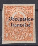 France Occupation Hungary Arad 1919 Yvert43 Mint Hinged - Ungarn (1919)