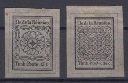 Reunion 1852 Yvert1-2 Reproductions - Réunion (1852-1975)