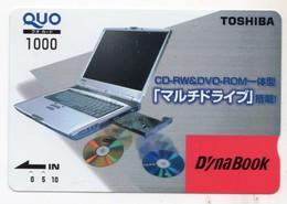JAPON CARTE QUO PREPAYE TOSHIBA - Publicité