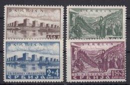 Germany Occupation Of Serbia - Serbien 1941 Mi#46-49 Mint Hinged - Besetzungen 1938-45
