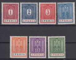 Germany Occupation Of Serbia - Serbien 1942 Porto Mi#9-15 Mint Hinged - Besetzungen 1938-45