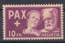 Switzerland PAX 1945 10 Fr Mi#459 Mint Lightly Hinged - Schweiz