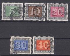 Switzerland PAX 1945 Mi#447-451 Used, Look - Schweiz