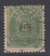 Iceland Island Ijsland 1897 Mi#18 A I, Perforation 14/13,5 Overprint Type I, Used, No Thin - Gebraucht