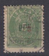 Iceland Island Ijsland 1897 Mi#18 A I, Perforation 14/13,5 Overprint Type I, Used, No Thin - Oblitérés
