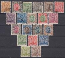 Iceland Island Ijsland 1920 Mi#84-98 Short Set (missing First Stamp Only) And 1921 Mi#99-103 Used - 1918-1944 Unabhängige Verwaltung