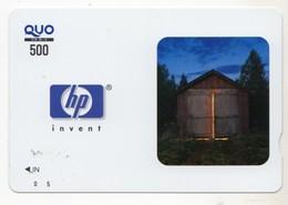 JAPON CARTE QUO PREPAYE HP - Publicité