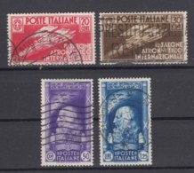 Italy Kingdom 1935 Sassone#384-387 Mi#528-531 Used - 1900-44 Victor Emmanuel III