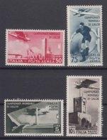 Italy Kingdom 1934 Calcio Posta Aerea Sassone#A69-A73 Mi#484-487 Mint Hinged - 1900-44 Victor Emmanuel III