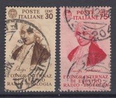 Italy Kingdom 1934 Sassone#364-365 Mi#492-493 Used - 1900-44 Victor Emmanuel III