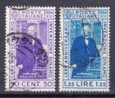 Italy Kingdom 1934 Sassone#362-363 Mi#488-489 Used - 1900-44 Victor Emmanuel III