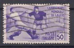 Italy Kingdom 1934 Calcio Sassone#359 Mi#481 Used - 1900-44 Victor Emmanuel III