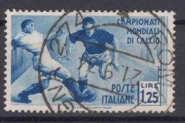 Italy Kingdom 1934 Calcio Sassone#360 Mi#482 Used - 1900-44 Victor Emmanuel III