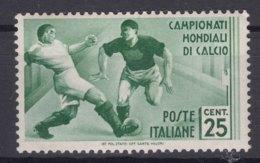 Italy Kingdom 1934 Calcio Sassone#358 Mi#480 Mint Hinged - 1900-44 Victor Emmanuel III