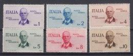 Italy Kingdom 1934 Posta Aerea Sassone#83-88 Mi#514-519 Mint Hinged - 1900-44 Victor Emmanuel III