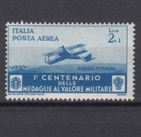 Italy Kingdom 1934 Medaglie Posta Aerea Sassone#A79 Mi#510 Mint Hinged - 1900-44 Victor Emmanuel III