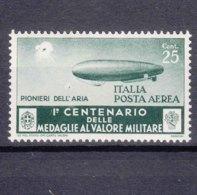 Italy Kingdom 1934 Medaglie Posta Aerea Sassone#A74 Mi#505 Mint Hinged - 1900-44 Victor Emmanuel III