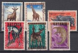 Belgium Colonies Katanga Animals, Used Selection - Katanga