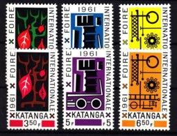 Belgium Colonies Katanga 1961 Mi#69-74 Mint Never Hinged - Katanga