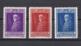 Liechtenstein 1933 Mi#122-124 Mint Hinged - Liechtenstein