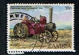 ZAMBIE - Oblitérés / Used - 1983 -Premières  Machines A Vapeur - Zambie (1965-...)