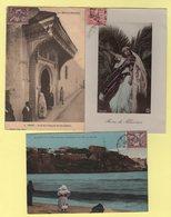 Maroc - Lot De 3 Cartes Postales - Type Mouchon - Maroc (1891-1956)