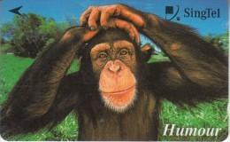 SINGAPORE(GPT) - Chimpanzee, CN : 237SIGC2K, Used - Télécartes
