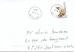 """LE NU DANS L'ART - """"la Tireuse D'épine"""" PONCE JACQUIOT Sur Lettre Au 15-04-19 - Marcophilie (Lettres)"""