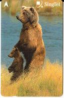 SINGAPORE(GPT) - Brown Bears, CN : 236SIGA2K, Used - Télécartes