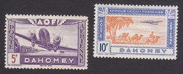 Dahomey, Scott #C10-C11, Mint Hinged, Plane, Caravan, Issued 1942 - Dahomey (1899-1944)