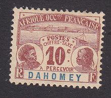 Dahomey, Scott #J2, Mint Hinged, Dahomey Natives, Issued 1906 - Dahomey (1899-1944)